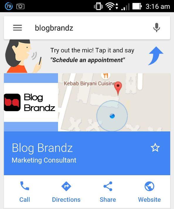 BlogBrandz Google Local Business Listing