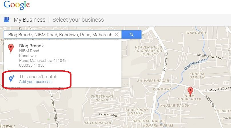 BlogBrandz Google Map