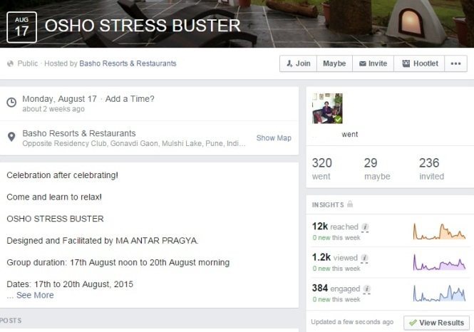 Osho Stress Buster Event