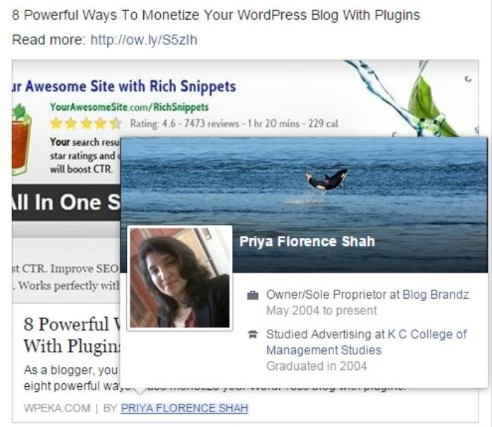 Facebook Authorship 2