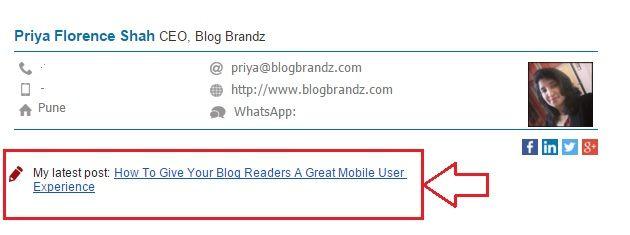 Wisestamp Blog Promotion
