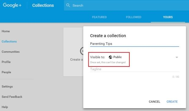 Create Collection Form