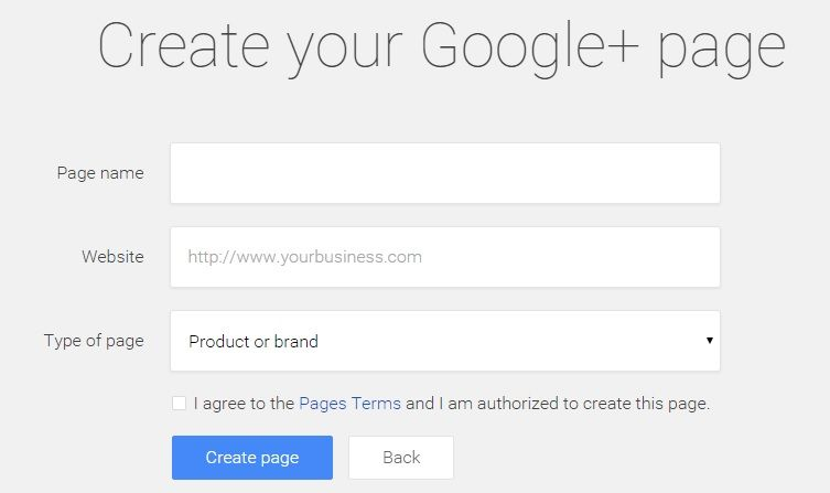 Google Business Page Create 2