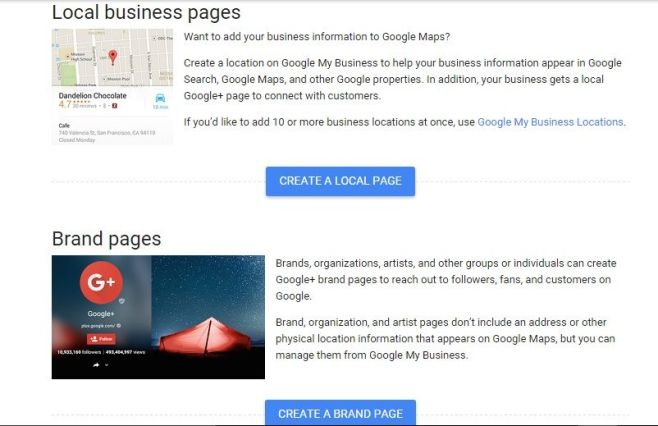 Google Business Page Create