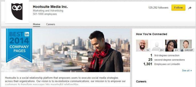 Hootsuite LinkedIn Page