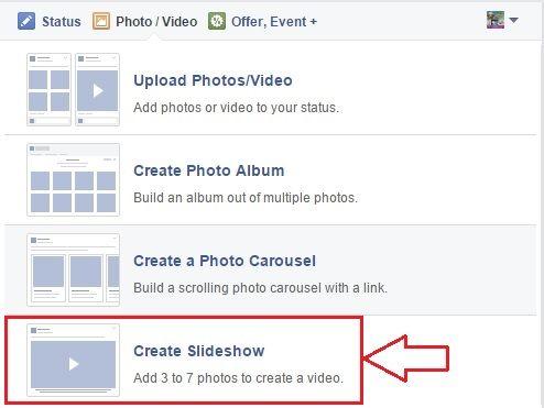 Facebook Video Options