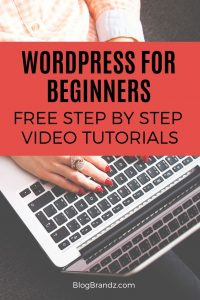 WordPress for beginners free step by step tutorials