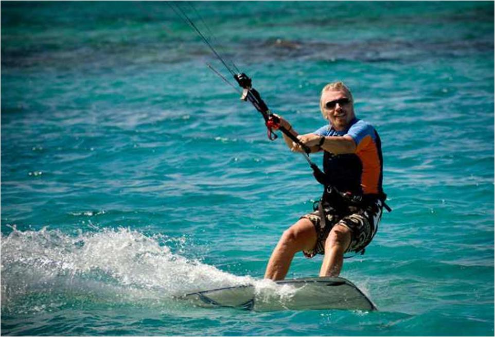 Richard Branson Kitesurfing