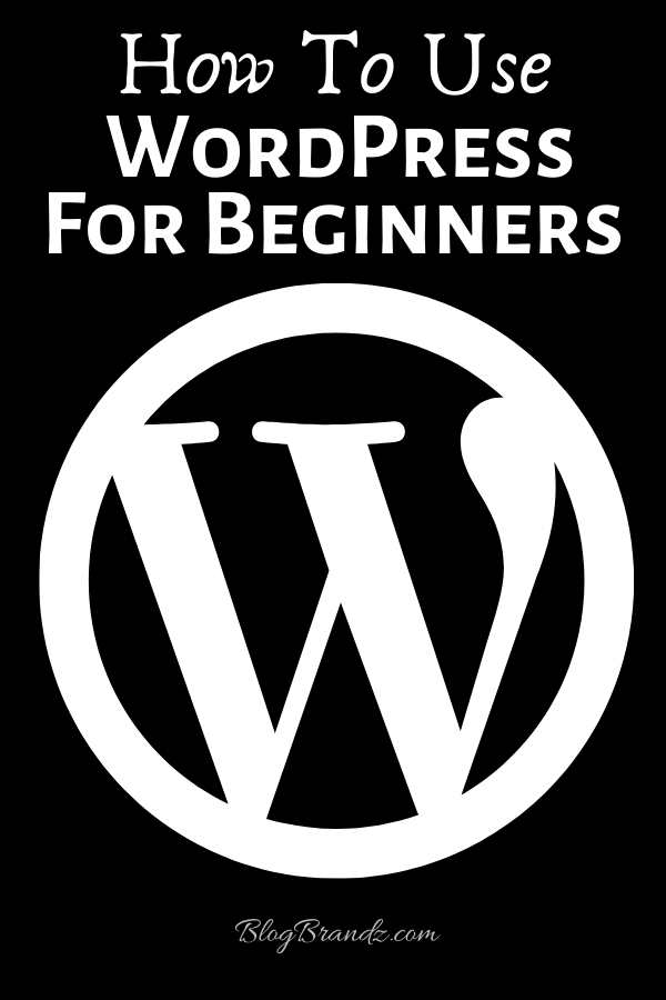 How To Use WordPress For Beginners