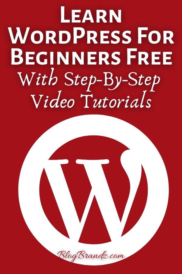 Learn WordPress For Beginners Free